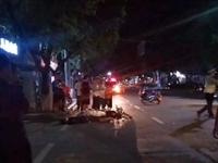 岳家庄大道两摩托车相撞,出行注意安全!