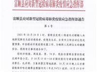 富顺县应对新型冠状病毒肺炎疫情应急指挥部第6号通告