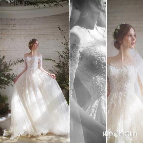 新的,订做的,瘦的人穿,婚纱跟敬酒服,头饰全部送