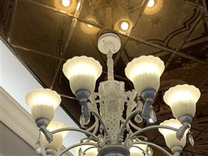新中源陶瓷现店面升级所有灯具,特价处理。吊灯、轨道灯、射灯、款式多种。都很新。 有意向者欢...