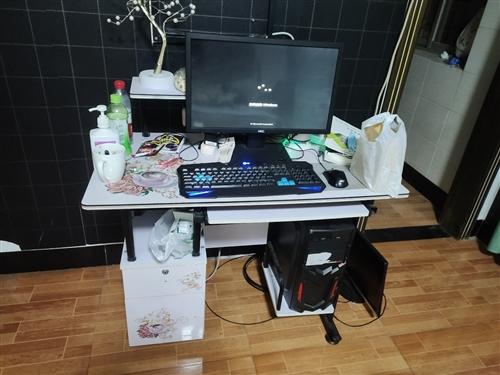 一套全卖,电脑桌,显示屏,鼠标键盘主机,拿回家网线一插就正常使用,因年底房租到了,年过了要去外地,便...