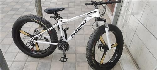 山地自行車,粗胎,買了一個月,騎了不到十次,白色,三刀輪,微信手機同號18894009168