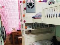 儿童实木上下铺床,下1.35×2米,18年购于淄博红星美凯龙,当时购买价格:裸床价格6800,两张床...