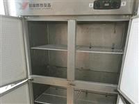 转让四门立式不锈钢大冰箱