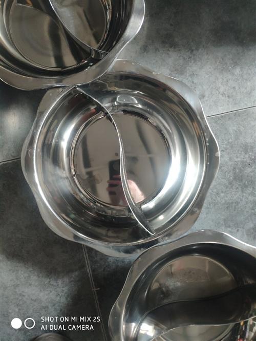 不锈钢火锅,单锅,鸳鸯锅,处理几十个,有意者来电咨询