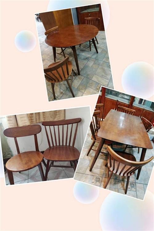 幾套九成新純木質一桌四凳低價處理