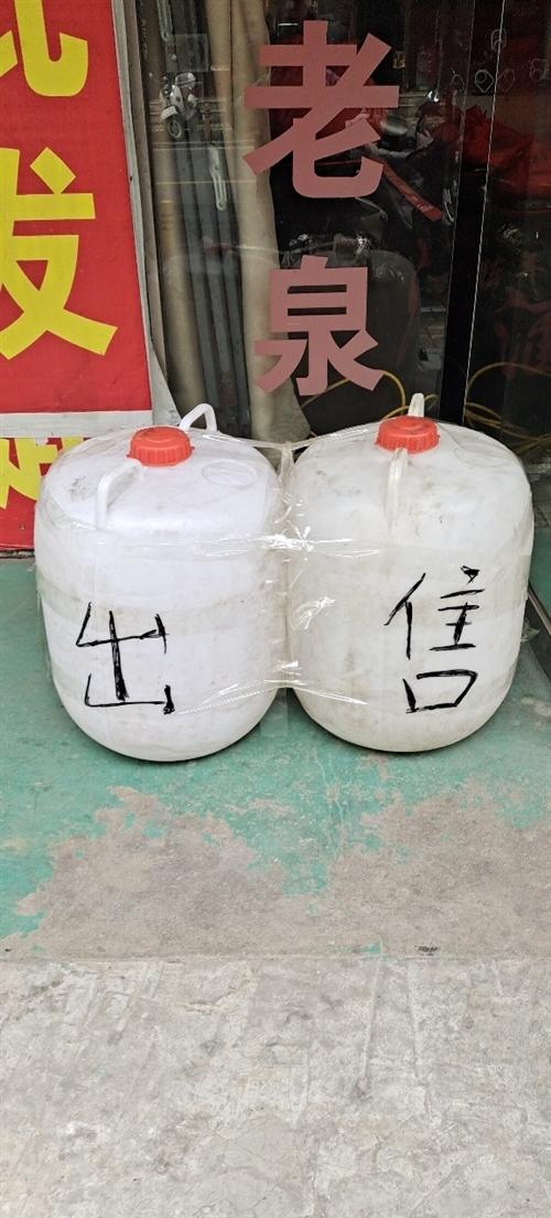 100斤塑料桶出售,80個,15元一個,桐城自提