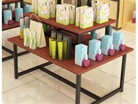 超市流水台展示台展示桌母婴店中岛柜货架展示柜服装店包包展示架低价转让,九五新,原价300元一套