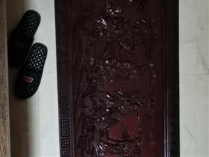 红木板雕刻挂饰,一张原板,不是拼筹板,因债务问题出售,有意者联系