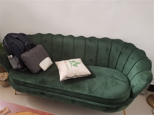 八成新沙发,去年购入,用了半年多,因去外地家具转出。非诚者勿扰