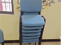 **办公椅 ,舒适棉麻材料 ,蓝色