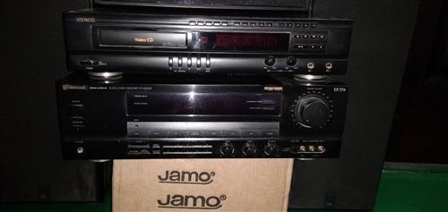 出让组合音响。配置美国狮龙功放机一台,日本松下LD自动翻碟镭射影碟机一台,金格数玛激光影碟机一台,丹...