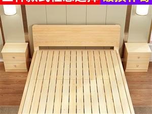 简易木床,180*200,实体店买的,八成新,因为没拍照,所以在网上搜了的图,比这牢固,同城交易,价...