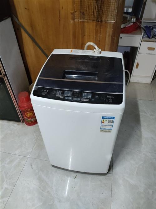 处理海尔8公斤全自动洗衣机,用了1年多,还有1年多保修期
