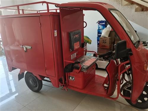 转让:金彭电动三轮车一辆,带车厢红色,2021年4月3号买的。只骑了一星期。 几乎是**。送货送快递...