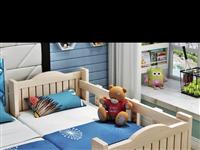 拼接婴儿床带护栏,大小120×60×40,自提