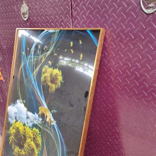 低价出售**玄关画 70+140,金属边框,画面清晰,有需要的可以看一下!