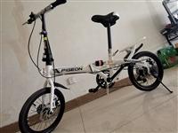 現出售一輛9.5成新飛鴿牌16寸變速輻條輪自行車,可逛街買菜,小孩騎行,輕松折疊放入后備箱!贈送:照...
