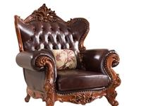 美式沙发,三座一套+一座2套,实木真皮棕色,新买家居,太大放不开,有需要的调走,地址:青州泰华