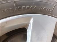 低价求购两条9成新的轮胎   自己用的    中低端胎不要    型号胎花看图