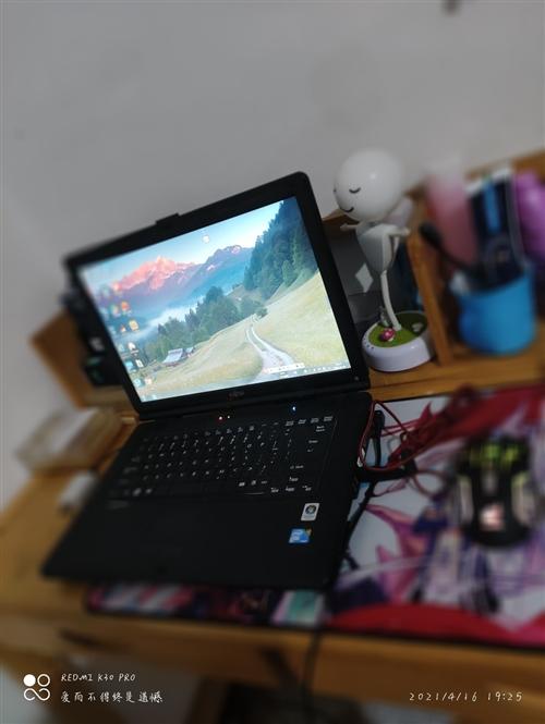出售二手富士通筆記本電腦一臺 電腦挺老了,幾百塊錢拿走, 酷睿T9400U處理器,日常辦公沒有什...