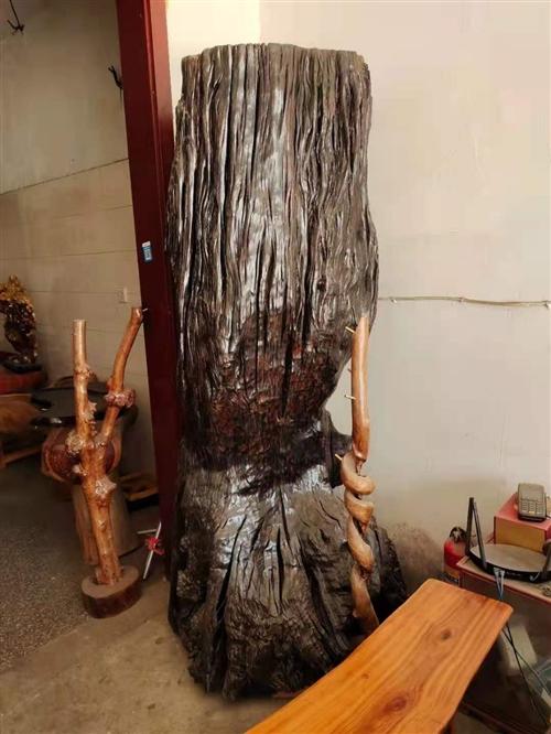 阴沉木,两米多高,现便宜处理!