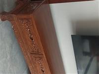 实木沙发六件套加影视柜,餐桌椅(一桌六椅)