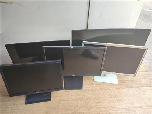 一批电脑显示器24寸/32寸曲面/19寸显示屏/17寸 价格低至70元,不用问有没有显示器直接说你...