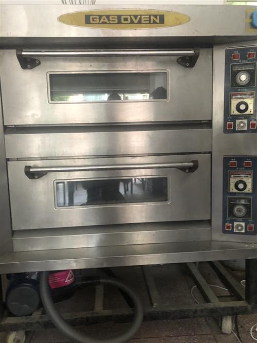 烤箱上下两层,四盘。