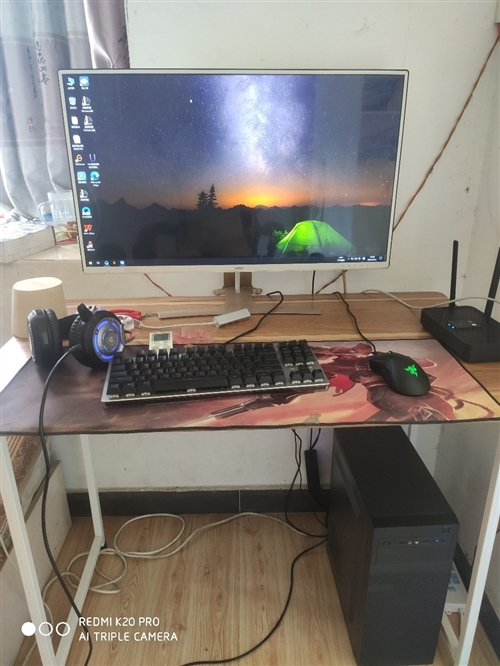 处理4月份原价7000基本游戏台式电脑, 32寸显示器+i5四十一万跑分主机+雷蛇鼠标+雷柏键盘...