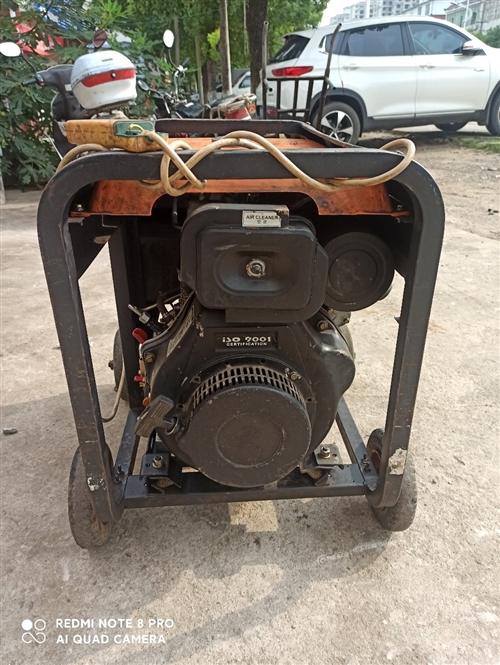 單相交流220v柴油發電機,功率7000瓦,電啟動。 性能完好,使用正常。