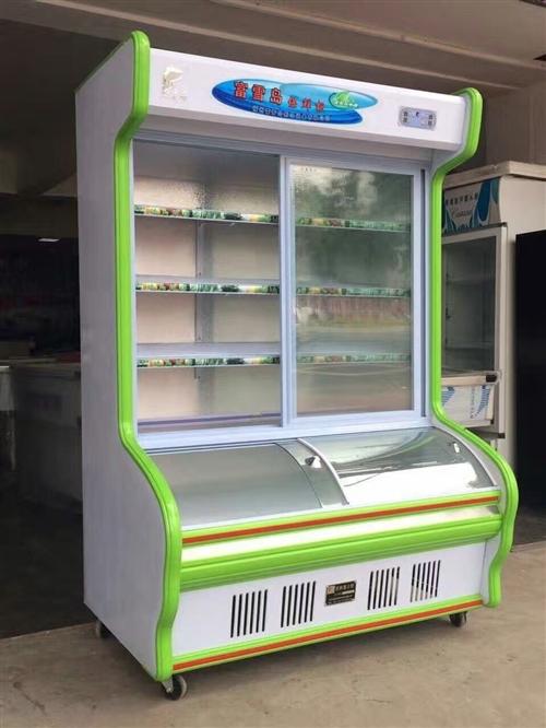 一米六冷藏冷冻展示柜,烧烤麻辣烫专用,上冷藏下冷冻,成色九成,便宜处理,非诚勿扰。两水附近优先。 ...
