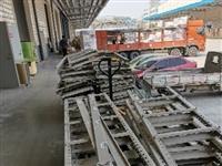 低價出售二手全鋼貨架,可承受重物。打包廢品價出!