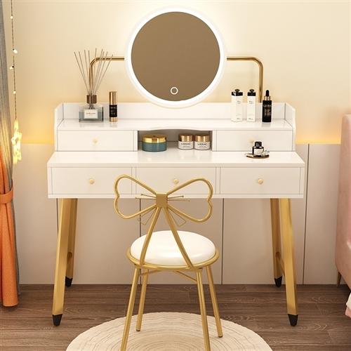 梳妆台加蝴蝶椅    80×40   三节可调灯光