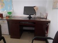 九成新办公桌带茶几