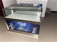 出售九成新玻璃展柜(长120com、宽40cm、高80cm),柜内增亮灯。
