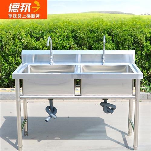 9.9新洗菜池,不锈钢双层操作台,便宜卖
