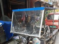 电动三轮车,买了2.3年,开得很少,.8月烧的不锈钢篷,9月27换的超威60V32AH电池,因接了一...