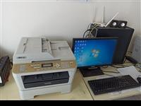 兄弟7360打印复印一体机,能打印复印扫描,a4及以下尺寸,易县自提。