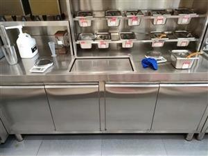 便宜出售1米5奶茶操作台,连体冰巢,买到赚到