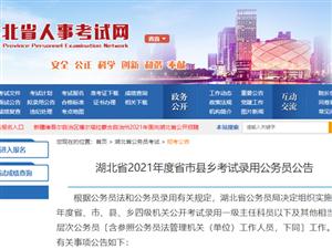 明起报名!2021年湖北省公务员招录公告发布!(附岗位表)