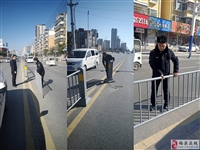 城南执法中队:紧急修复受损护栏保障交通安全