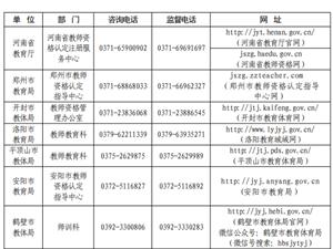 河南省2021年中小�W教���Y格�J定公告