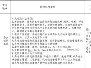 苍溪县乡镇供水总站  关于公开招聘乡镇供水站工作人员的公告