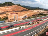 龙寻高速龙田枢纽互通跨线施工正式启动,力争2023年通车!