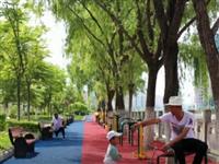 徽县:健身步道让市民运动更便捷