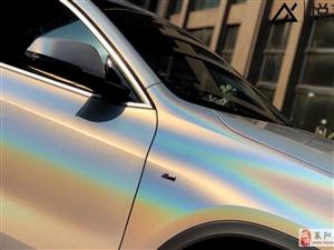 煙臺地區汽車改色貼膜,鐳射閃白改色膜效果案例,煙臺