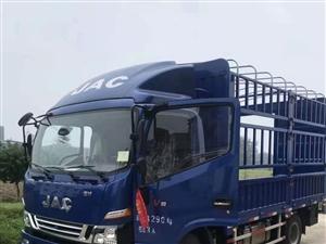 出售准新车4.2米高栏江淮骏铃V8蓝牌170马力法士特十档箱