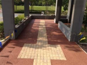 重庆南岸区水泥路面压花、压膜地坪、压印混凝土