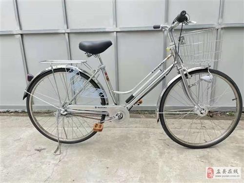 铃木异型管26寸自行车银色,内三速!